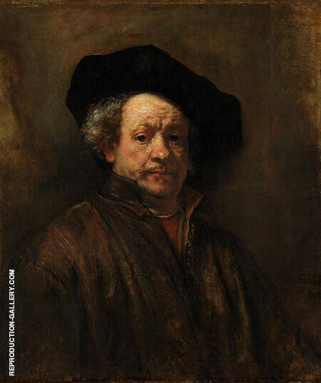Self Portrait 1660 Painting By Rembrandt Van Rijn - Reproduction Gallery