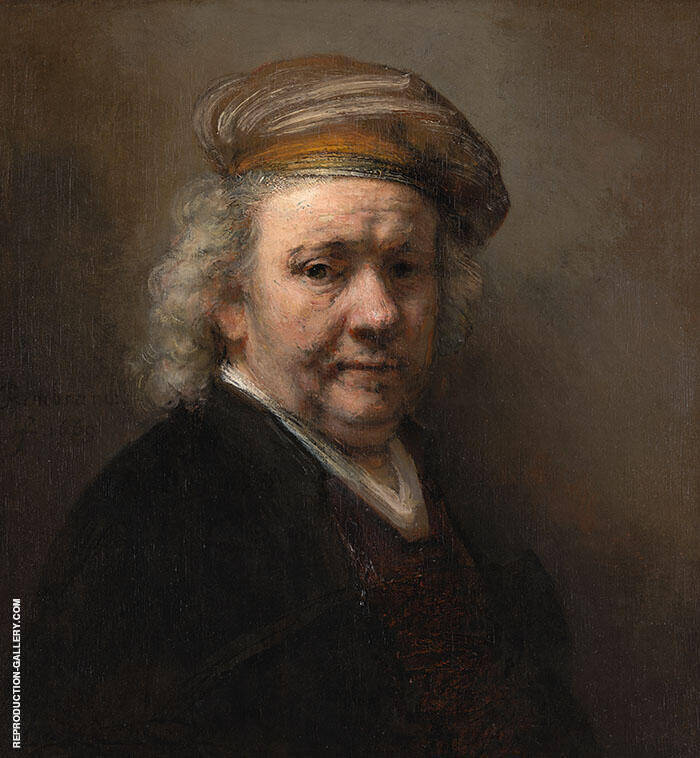 Self Portrait 1669 by Rembrandt Van Rijn | Oil Painting Reproduction Replica On Canvas - Reproduction Gallery