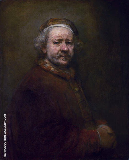 Self Portrait 1669 A By Rembrandt Van Rijn - Oil Paintings & Art Reproductions - Reproduction Gallery