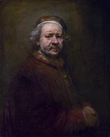 Self Portrait 1669 A By Rembrandt Van Rijn
