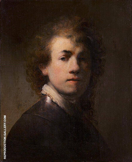 Self Portrait with a Gorget 1629 By Rembrandt Van Rijn - Oil Paintings & Art Reproductions - Reproduction Gallery