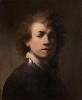 Self Portrait with a Gorget 1629 By Rembrandt Van Rijn
