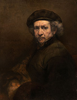 Self Portrait with Beret and Turned Up Collar 1659 By Rembrandt Van Rijn