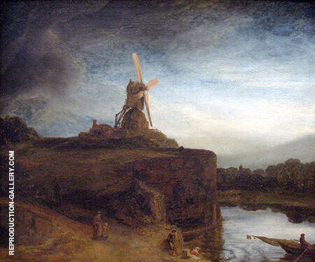 The Mill c1645-48 Painting By Rembrandt Van Rijn - Reproduction Gallery