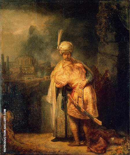 David's Farewell to Jonathan 1642 By Rembrandt Van Rijn - Oil Paintings & Art Reproductions - Reproduction Gallery