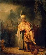 David's Farewell to Jonathan 1642 By Rembrandt Van Rijn