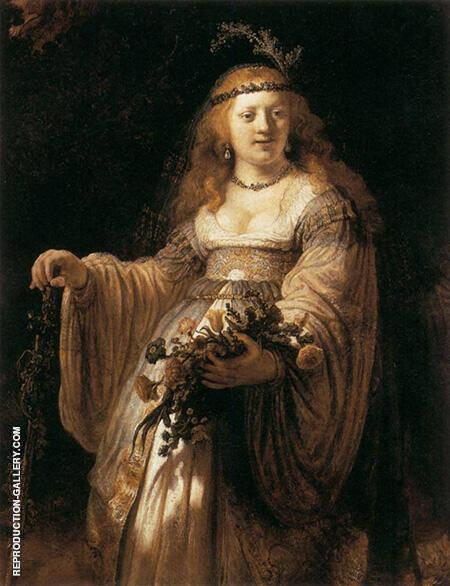 Saskia van Uylenburgh in Arcadian Costume 1635 By Rembrandt Van Rijn