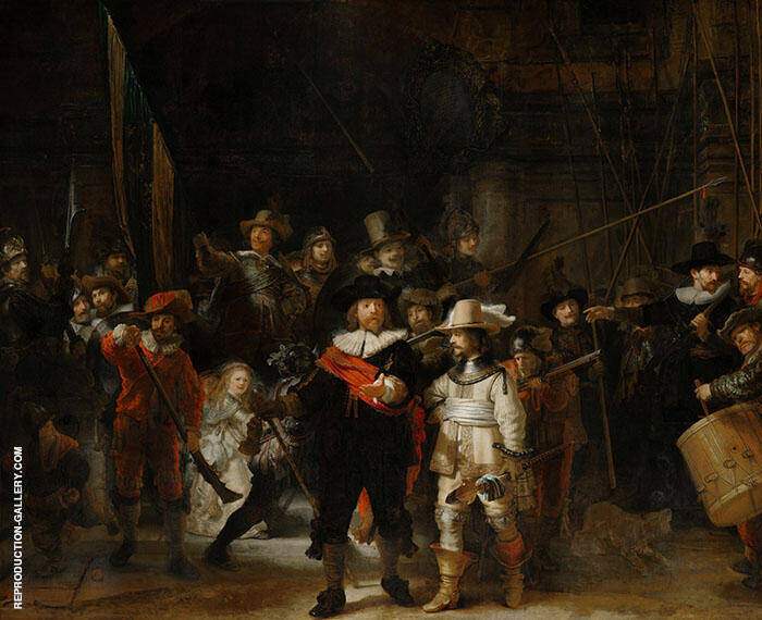 The Night Watch 1642 Painting By Rembrandt Van Rijn - Reproduction Gallery