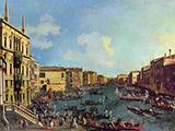 The Regatta seen from Ca Foscari 1727 By Canaletto