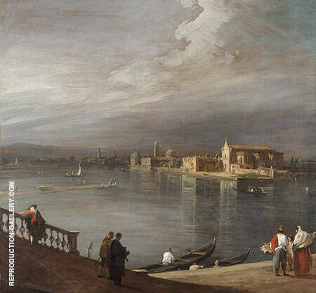 San Cristoforo San Michele and Murano from the Fondamenta Nuove Venice 1722 By Canaletto - Oil Paintings & Art Reproductions - Reproduction Gallery
