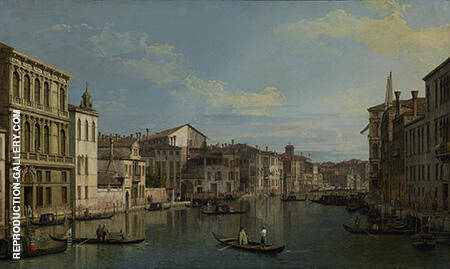 Grand Canal from Palazzo Flangini 1738 By Canaletto