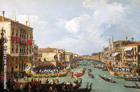 La Regate sur le Grand Canal 1730 By Canaletto