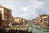 La Regate sur le Grand Canal 1730 By Canaletto