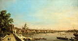 The Thames from the Terrace of Somerset House Looking toward St.Paul�s c1750 By Canaletto