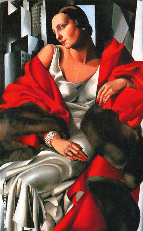 Portrait of Madame Boucard 1931 By Tamara de Lempicka - Oil Paintings & Art Reproductions - Reproduction Gallery