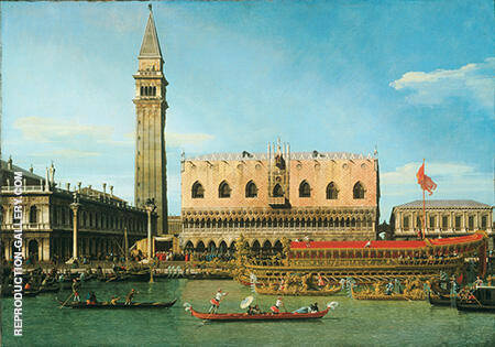 The Bucintoro at the Molo on Ascension Day 1745 By Canaletto