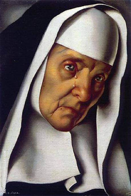 Mother Superior 1935 By Tamara de Lempicka - Oil Paintings & Art Reproductions - Reproduction Gallery