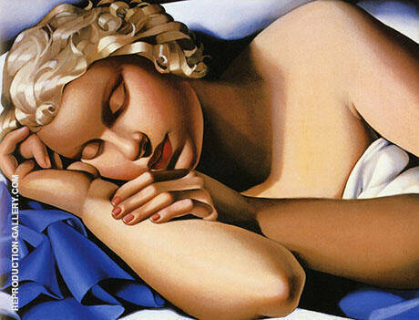 Reproduction of Sleeping Woman 1935 by Tamara de Lempicka | Oil Painting Replica On CanvasReproduction Gallery