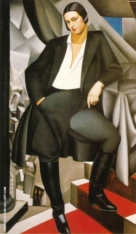 Portrait of the Duchesse de la Salle 1925 By Tamara de Lempicka - Oil Paintings & Art Reproductions - Reproduction Gallery
