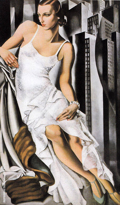 Portrait of Mrs Alan Bott 1930 By Tamara de Lempicka - Oil Paintings & Art Reproductions - Reproduction Gallery
