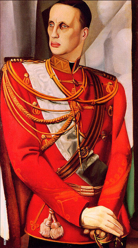 Portrait of Grand Duke Gavriil Kostantinovic1927 By Tamara de Lempicka