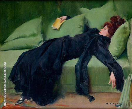 Joven Decadente 1899 By Ramon Casas - Oil Paintings & Art Reproductions - Reproduction Gallery