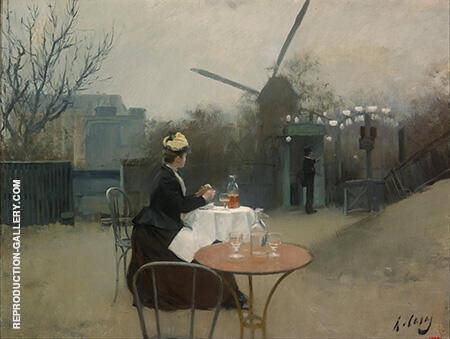 Plein Air c1890 By Ramon Casas - Oil Paintings & Art Reproductions - Reproduction Gallery
