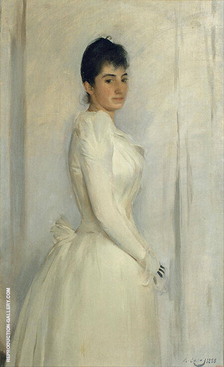 Portrait of Montserrat Carbo 1888 By Ramon Casas - Oil Paintings & Art Reproductions - Reproduction Gallery