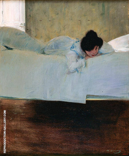Laziness c1898-1900 By Ramon Casas - Oil Paintings & Art Reproductions - Reproduction Gallery
