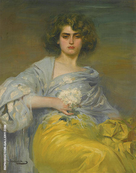 Spanish Julia c1970 By Ramon Casas - Oil Paintings & Art Reproductions - Reproduction Gallery