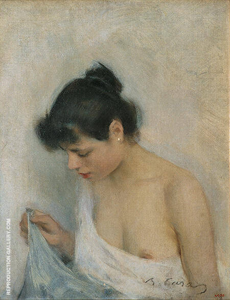 Study c1893 Painting By Ramon Casas - Reproduction Gallery