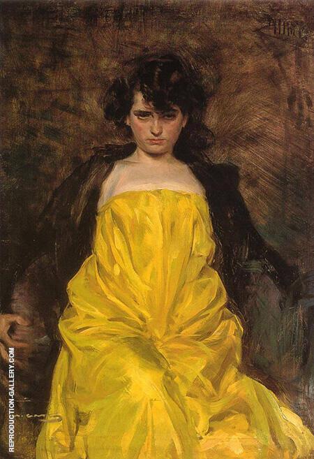 La Sargantain 1907 By Ramon Casas - Oil Paintings & Art Reproductions - Reproduction Gallery