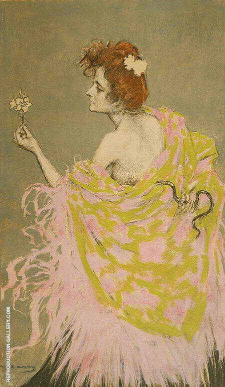 Original Design for the Poster Sifilis 1900 By Ramon Casas