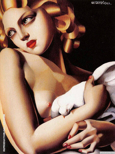 Reproduction of Femme Colombe by Tamara de Lempicka | Oil Painting Replica On CanvasReproduction Gallery