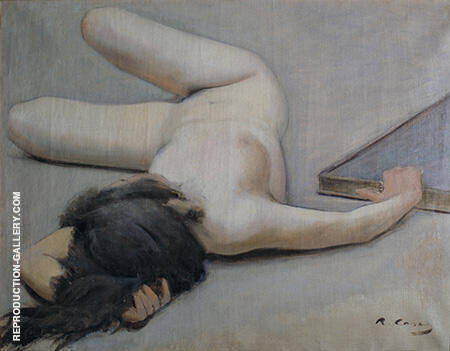 Female Nude 1894 By Ramon Casas - Oil Paintings & Art Reproductions - Reproduction Gallery