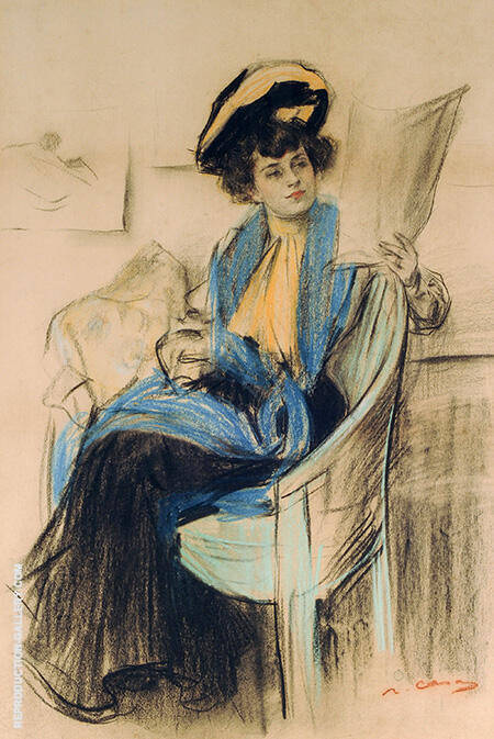 Mademoiselle Clo-Clo By Ramon Casas - Oil Paintings & Art Reproductions - Reproduction Gallery