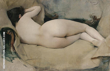 Female Nude 1894 By Ramon Casas