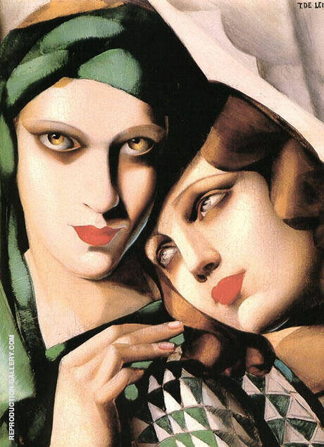 Reproduction of Green Turban 1930 by Tamara de Lempicka | Oil Painting Replica On CanvasReproduction Gallery