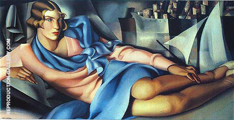 Portrait of Arlette Boucard 1928 By Tamara de Lempicka - Oil Paintings & Art Reproductions - Reproduction Gallery