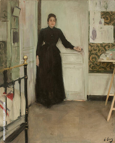 Interior c1890 By Ramon Casas - Oil Paintings & Art Reproductions - Reproduction Gallery