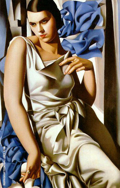Portrait of Madam M By Tamara de Lempicka