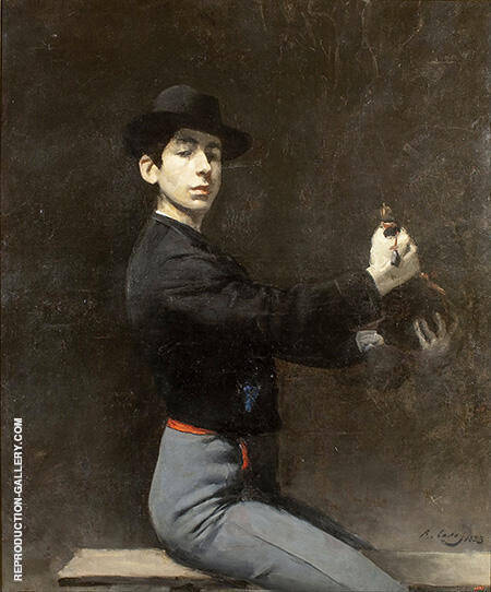 Reproduction of Self-Portrait as a Flamenco Dancer 1883 by Ramon Casas | Oil Painting Replica On CanvasReproduction Gallery