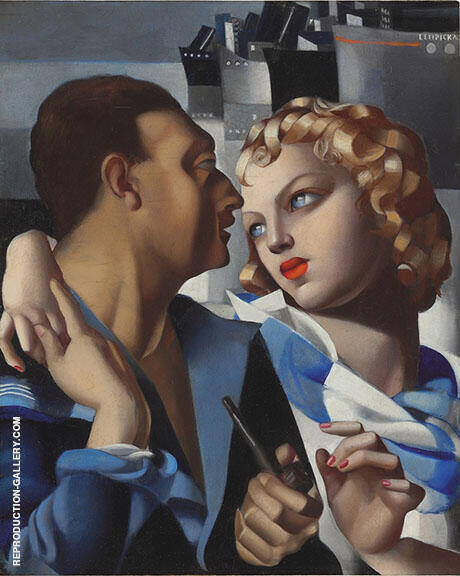 Idylle Painting By Tamara de Lempicka - Reproduction Gallery