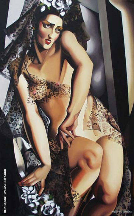 Portrait of Nana de Herrera Painting By Tamara de Lempicka