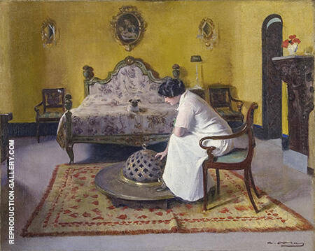 Interior with Julia By Ramon Casas - Oil Paintings & Art Reproductions - Reproduction Gallery