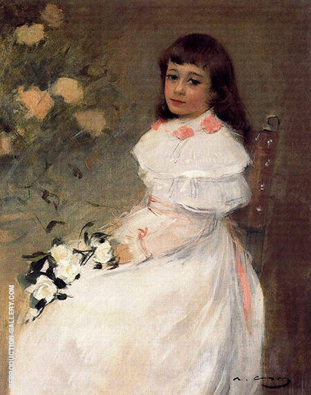 Daughter of the painter Santiago Rusinol 1893 By Ramon Casas - Oil Paintings & Art Reproductions - Reproduction Gallery