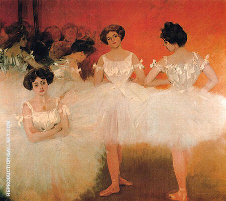 The Corps De Ballet c1901 By Ramon Casas - Oil Paintings & Art Reproductions - Reproduction Gallery