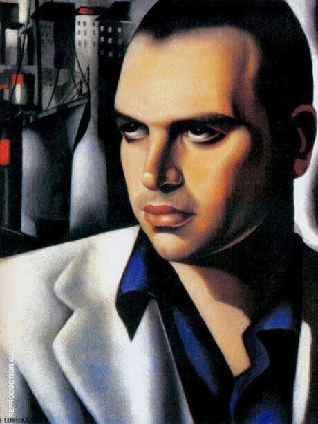 Portrait of Count Vettor Marcello By Tamara de Lempicka - Oil Paintings & Art Reproductions - Reproduction Gallery