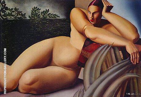 Reclining Nude 1925 Painting By Tamara de Lempicka - Reproduction Gallery