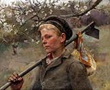 Boy with a Hoe By Elizabeth Forbes